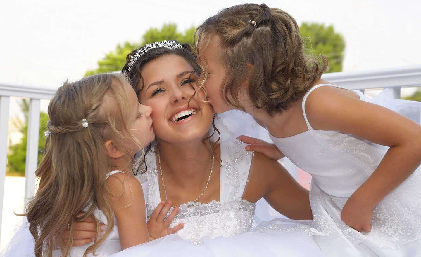 bride-with-kids